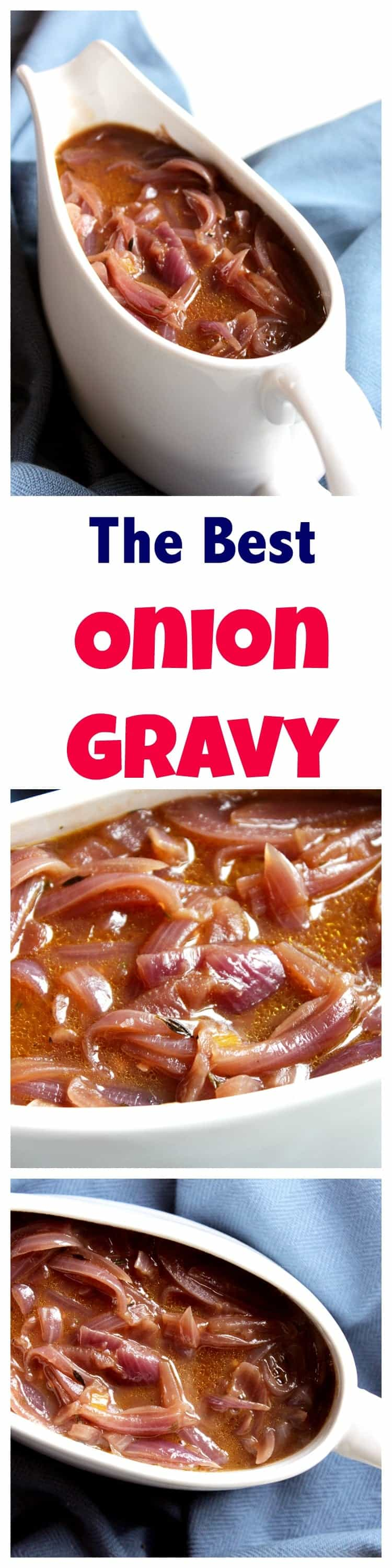 This onion gravy is a perfect accompaniment to bangers and mash, toad in the hole or a Sunday roast. Made from scratch and full of flavour. Vegetarian.