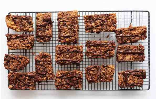 Flapjacks are such an easy treat to make and have throughout the week. My simple recipe adds a bit of indulgence to this classic sweet nibble with the addition of dark chocolate and cherries