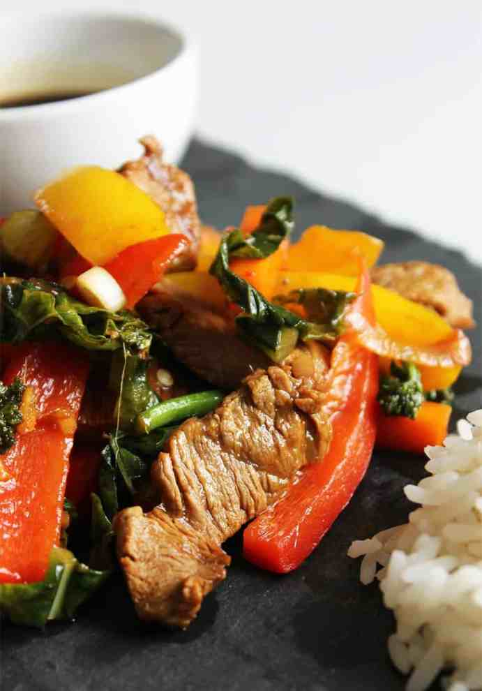 Marinated Beef Stir fry is a perfect quick and easy weeknight meal for all the family. It's packed full of Chinese flavours and healthy vegetables and is faster than a takeaway!