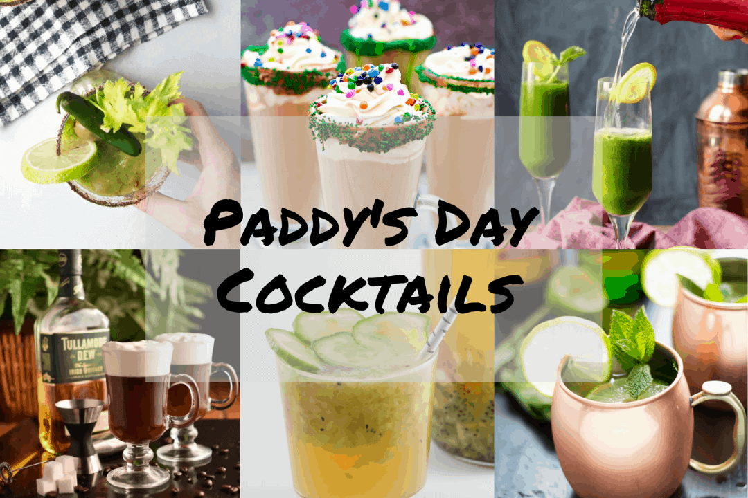 Irish Themed Cocktails for St Patrick's Day