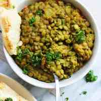 Green Lentil Daal - An Easy Weeknight Meal