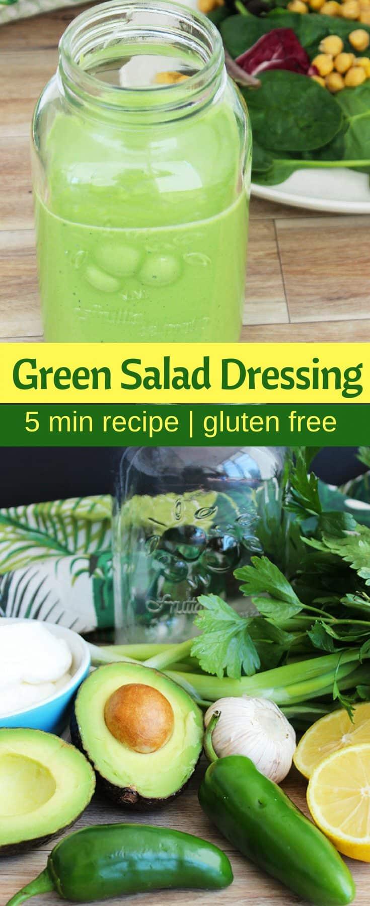 Green salad dressing pinterest collage