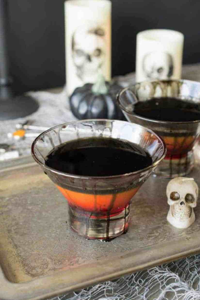 A halloween spooky screwdriver cocktail