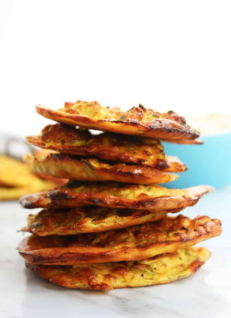 A stack of zucchini fritters