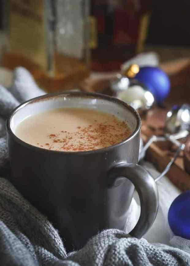 coconut hot toddy in a mug