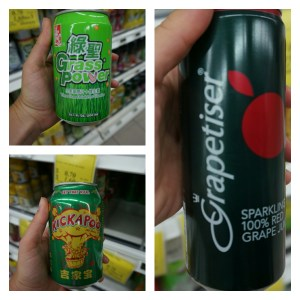 Soft drinks with unusual flavors