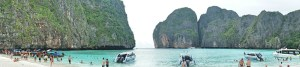 The gorgeous but crowded Maya Bay