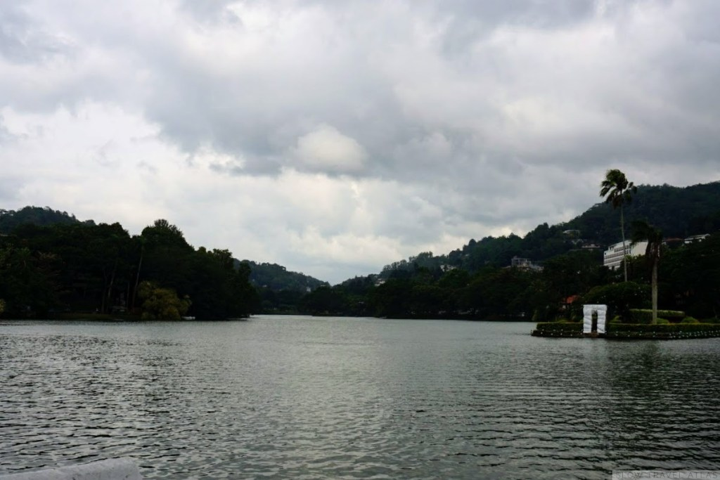 Kandy lake on on a cloudy day