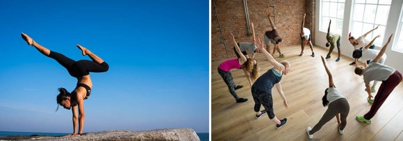 Example of two different stock photos for the keyword yoga and how they will affect your marketing strategy