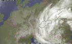 Rozsiahla tlaková níž nad našim územím, 15. máj 2014. Zdroj: SHMU