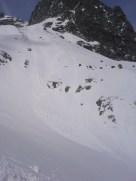 Samovoľné lavíny v bezprostrednom okolí