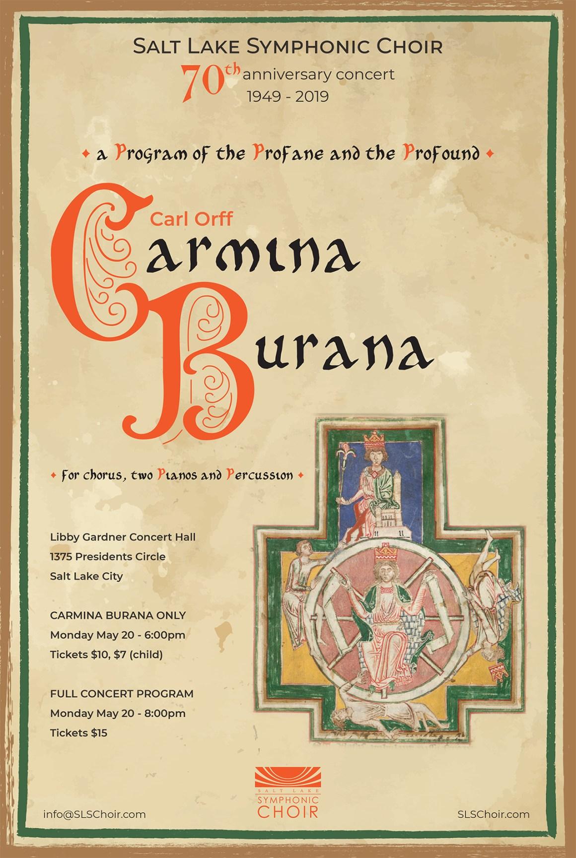 Carmina Burana Spring 2019