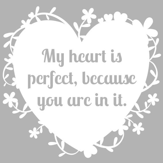 My Heart is Perfect Paper cut template free