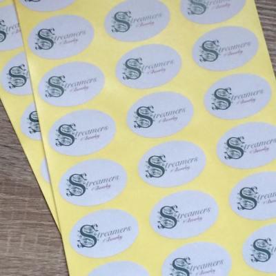 Oval Logo Stickers