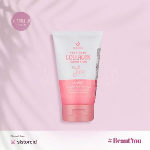 slstoreid-scentio-pink-collagen-radiant-firm-facial-foam-scrub