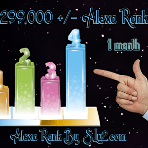 Increase your Alexa rank to 299,000 one month