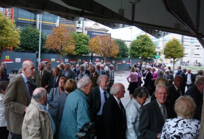 Queues outside the Waterfront Hall