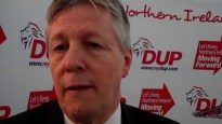 Still image grab from Peter Robinson talking before DUP's 2011 Assembly Election launch