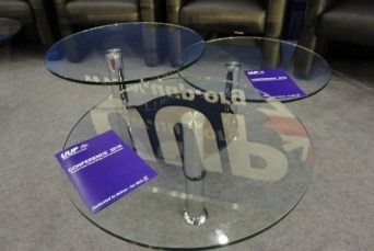 UUP logo reflected in table at 2010 conference