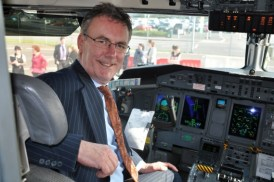 Mike Nesbitt at the controls