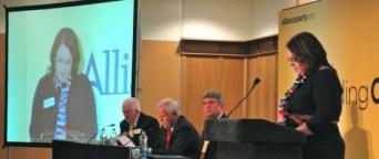 Judith Cochrane addressing Alliance Conference 2012