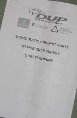 DUP 2012 membership survey front page