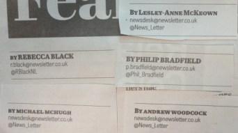 News Letter bylines