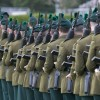 Soldiers of the Royal Irish Regiment on Parade, from MOD archive