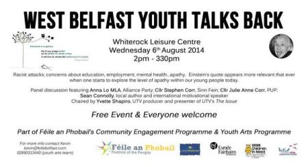 West Belfast Youth Talks Back poster