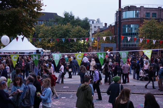 Some of the 50,000 attendees at this years Culture Night in Belfast.