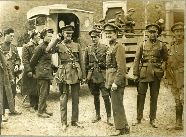 National Army soldiers during the Irish Civil War