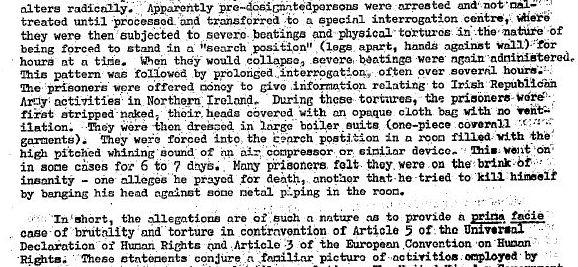 Amnesty report hooded men 71 excerpt