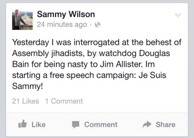 Sammy Wilson facebook