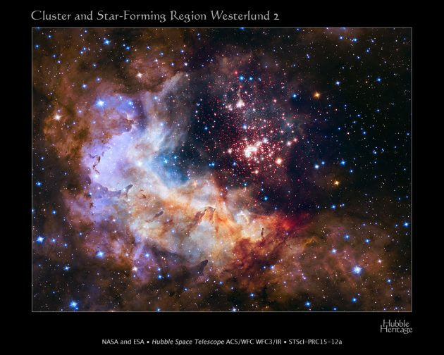 Hubble Space Telescope 25th Anniversary Image - Westerlund 2