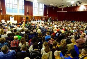 West Belfsat Talks Back crowd from behind