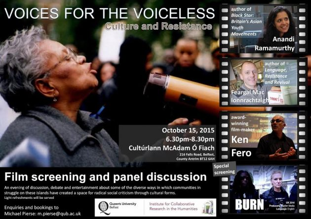 Voices For The Voiceless event poster