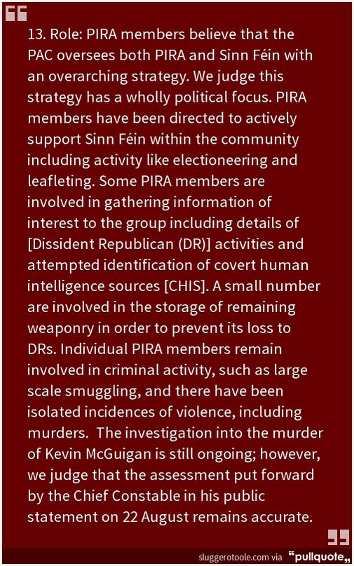 PIRA Report