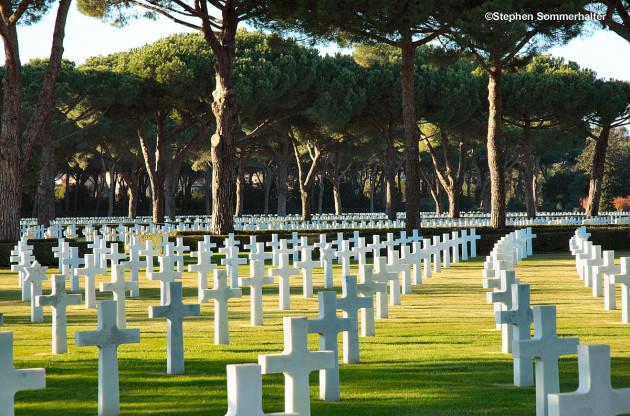 Sicily-Rome American military Cemetery in Nettuno near Anzio