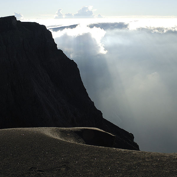 Crater rim of Mount Tambora, Sumbawa, Indonesia