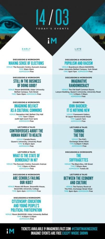 Imagine Belfast 14 March programme