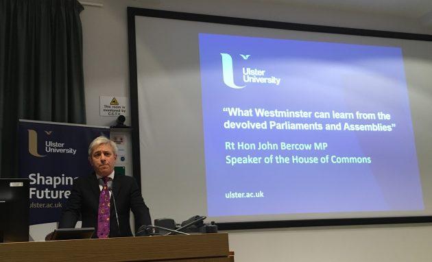 Speaker John Bercow UU lecture