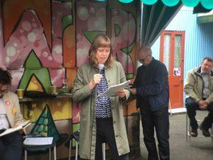 Rita Harking speaking at Xchange Summer School xss16