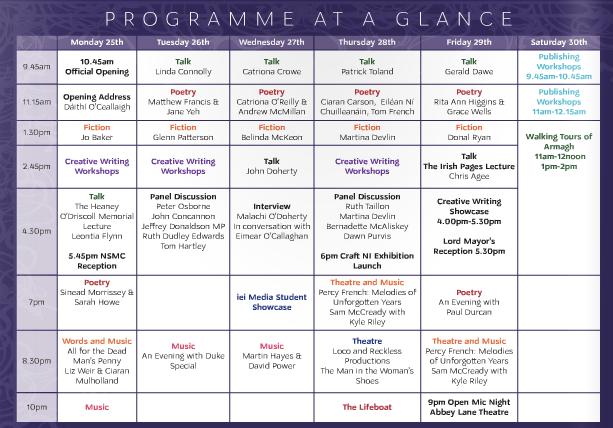 John Hewitt Summer School 2016 programme