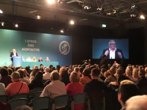 Prof Peter Shirlow addressing Sinn Fein ard fheis