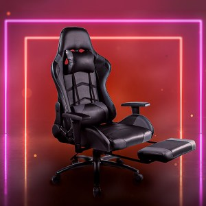 Slumer Reclining Gaming Chair, Racing Style With Footrest