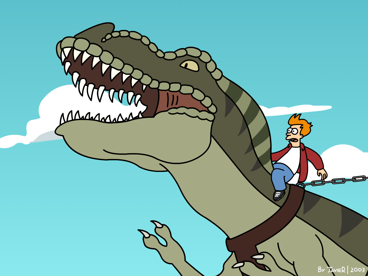 Image result for futurama t rex