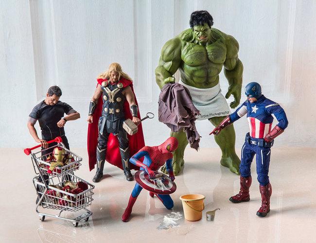 avengers ragging spiderman