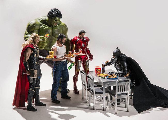 superheroes daily lives batman