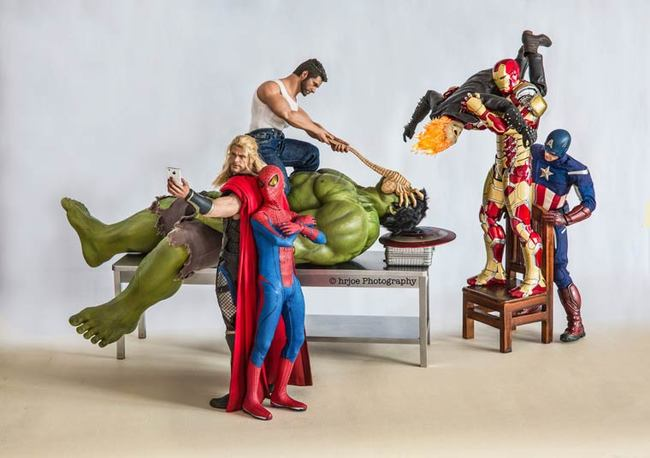 the avengers at work