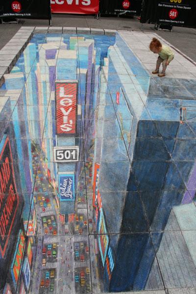 3d street art painting